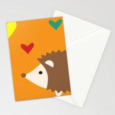hedgehog orange Stationery Cards