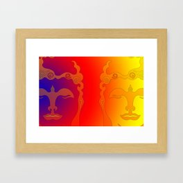 Buddha Head Rainbow I Framed Art Print
