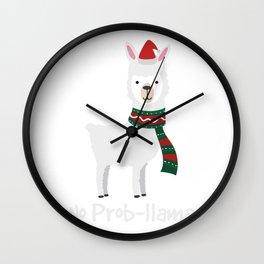 No Prob-llama Christmas Best Gift For Alpaca Lover Wall Clock