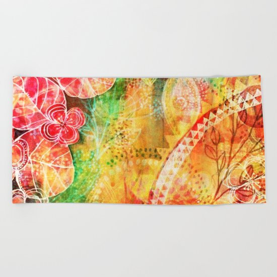 Sunshine Garden Beach Towel