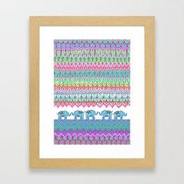 Tiny Circus Elephants Framed Art Print