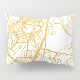 JERUSALEM ISRAEL PALESTINE CITY STREET MAP ART Pillow Sham