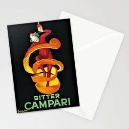 Colorful Bitter Campari Spirits Vintage Advertisement Stationery Cards