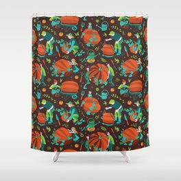 Green thumbed Shower Curtain