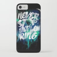 never stop exploring iPhone & iPod Cases featuring NEVER STOP EXPLORING by dzeri29