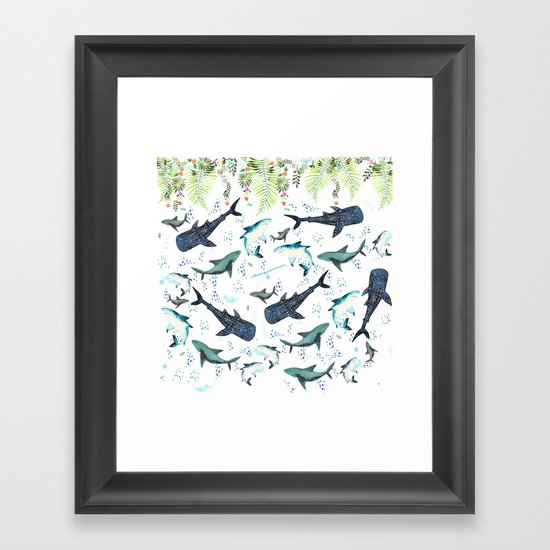 floral shark pattern by sharquarium