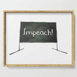 Impeach! Chalkboard Serving Tray
