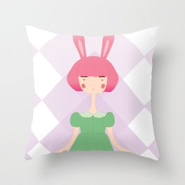 the bunny Throw Pillow
