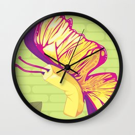 Butterfly - Left Facing Wall Clock