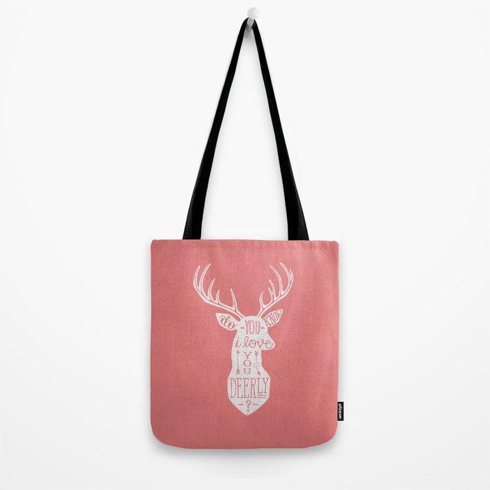 I LOVE YOU DEER - PINK Tote Bag