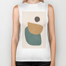 Abstract Minimal Shapes III Biker Tank