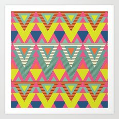 Fresh Geometric Chic Art Print