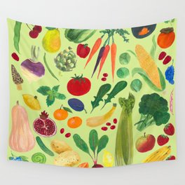 Fruits and Veggies Wall Tapestry