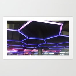 Underground lights Art Print