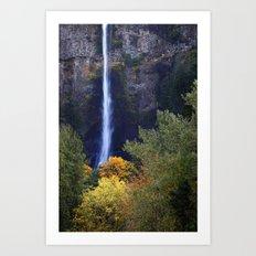 Multnomah Falls Autumn. Art Print