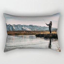 Flyfishing & Mountains Rectangular Pillow