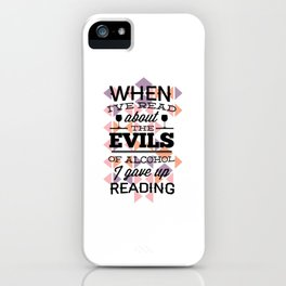 evill alcohol iPhone Case