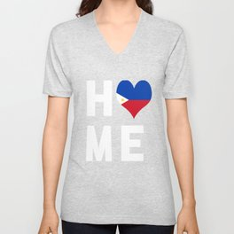 Philippines Is My Home Tee Shirt Unisex V-Neck