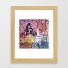 La Rosa Collage - Color Framed Art Print