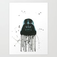 darth vader Art Prints featuring Darth Vader by McCoy