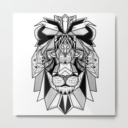 Lion Mandala art Metal Print