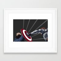 the winter soldier Framed Art Prints featuring Winter Soldier by Kiss My Artse