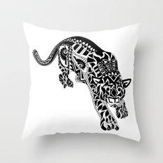 Señor Jaguar Throw Pillow