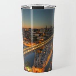 Porto twylight bridge Travel Mug
