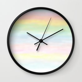 pastel rainbow gradient loved by unicorns Wall Clock