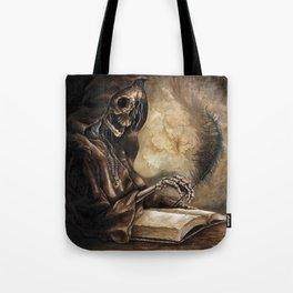 Skeleton Scribe Tote Bag