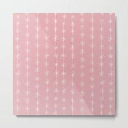 Pink Daisy Chain (Large Print) Metal Print