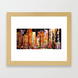 Golden town Framed Art Print