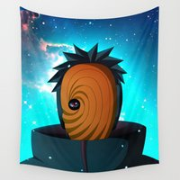 naruto Wall Tapestries featuring Naruto Obito Uchiha by BradixArt