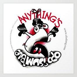 Anything's Oppossum'ble Art Print