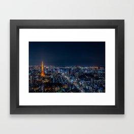 Tokyo, Japan - Night Framed Art Print
