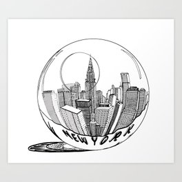 New York Print. Home Decor Graphicdesign Art Print