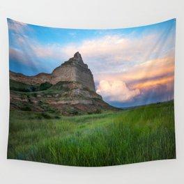 Scottsbluff - Landscape in Evening Light in Western Nebraska Wall Tapestry