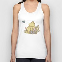 pooh Tank Tops featuring Classic Pooh by kltj11