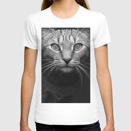 cat katz black white 4 T-shirt