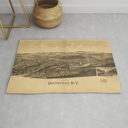 Aerial View of Dolgeville, New York (1890) Rug