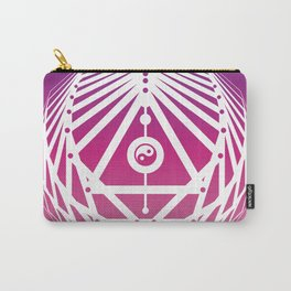 Radiant Abundance (warm purple-white) Carry-All Pouch