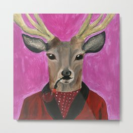 Mister Deer from Animal Society Metal Print