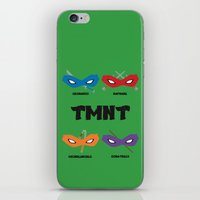 teenage mutant ninja turtles iPhone & iPod Skins featuring Teenage Mutant Ninja Turtles by DSCDESIGNS
