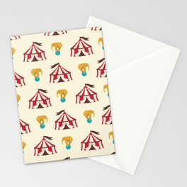 Circus With Performing Elephants Stationery Cards