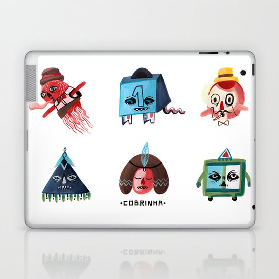 Monster Shapes Laptop & iPad Skin