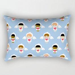 Kawaii angels (blue) Rectangular Pillow