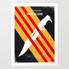 No288 My Rambo First Blood minimal movie poster Art Print