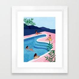 Pool ladies Framed Art Print