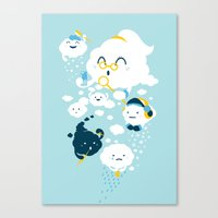 family Canvas Prints featuring family by Steven Toang