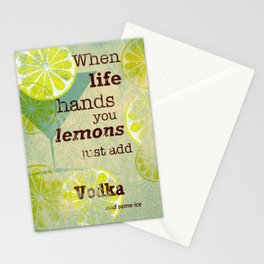 Add Vodka Stationery Cards